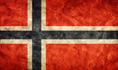 Norway grunge flag. Vintage, retro style. High resolution, hd quality. Item from my grunge flags col
