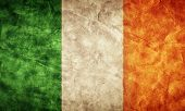 Ireland grunge flag. Vintage, retro style. High resolution, hd quality. Item from my grunge flags collection.