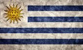 Uruguay grunge flag. Vintage, retro style. High resolution, hd quality. Item from my grunge flags collection.
