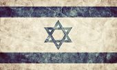 stock photo of israel israeli jew jewish  - Israel grunge flag - JPG