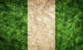 Nigeria grunge flag. Vintage, retro style. High resolution, hd quality. Item from my grunge flags collection.