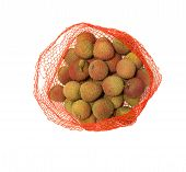 Fresh Lychees in a bag