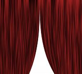Red mid open theatre curtain