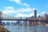 A view on Queensboro Bridge from Roosevelt island.