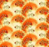 Seamless Orange Pattern Imitating Plumelets