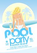 Pool party design template. Eps10