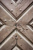 Ancient Wooden Door Detail