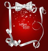 Shiny red ribbon with copy space. Vector illustration.