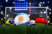 3D Rendering Of Argentina Football Team In The Year 2014 In A Football Stadium