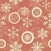Winter Christmas New Year Seamless Pattern. Beautiful Texture wi