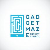 Gadget Maze Abstract Vector Concept Icon