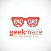 Geek Maze Vector Concept Symbol Icon