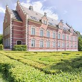 Palsjo Slott In Helsingborg With Hedge Maze