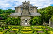 Formal Garden At Pollok House In Pollok Country Park, Glasgow, Scotland, Uk