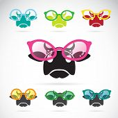 Vector Images Of Cows Wearing Glasses