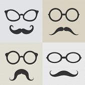 Vector Images Of Glasses And Mustaches