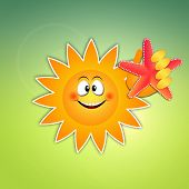 Funny Sun With Starfish