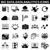 big data icons, data analytic icons t-shirt