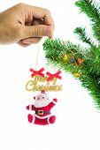 Santa Hang At The Christmas Tree