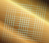 Abstract golden grid perspective space background