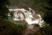 Top view of Datian Waterfall In China.