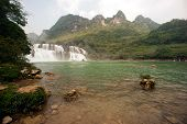 Datian waterfall ( Virtuous Heaven waterfall ) in China.