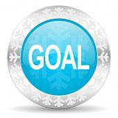 goal icon, christmas button