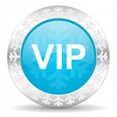 vip icon, christmas button