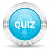 quiz icon, christmas button