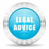legal advice icon, christmas button, law sign