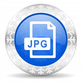 jpg file blue icon, christmas button