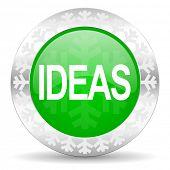 ideas green icon, christmas button
