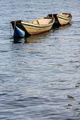 an old wooden boat in a lake