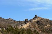 Great Wall Of China Section Crowded With Tourists