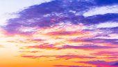 Idyllic Backdrop Evening Cloudscape