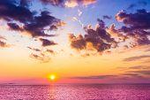 Fiery Backdrop Sunset in Paradise