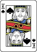 Stylized King of Spades with strong outline