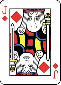 Stylized Jack of Diamonds with strong outline