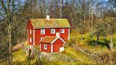 old rural farm houses, 16th century nostalgia, Sweden