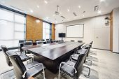 modern office meeting room interior and decoration
