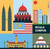 Symbols Of Kuala Lumpur.