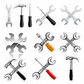Work tool icon set. Vector