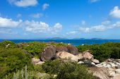 pic of virginity  - Above view of the Baths beach area major tourist attraction at Virgin Gorda - JPG