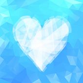 Blue Ice Heart