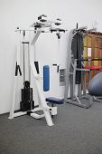 gym apparatus isolated under the white background