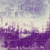 Art vintage background with space for text and different color patterns: gray; blue; purple (violet)