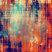 Old antique texture or background. With different color patterns: blue; orange; brown; yellow