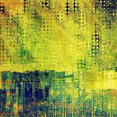 Designed grunge texture or retro background. With different color patterns: blue; green; yellow