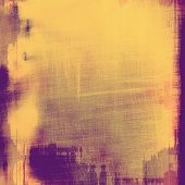 Abstract grunge background of old texture. With different color patterns: purple (violet); orange; brown; yellow