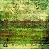Grunge texture with decorative elements and different color patterns: green; brown; yellow